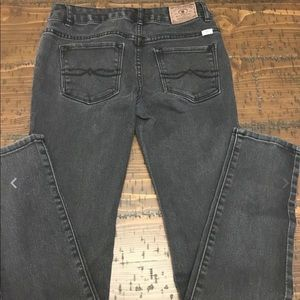 Girls Black Distressed Lucky Brand Jeans Size 14